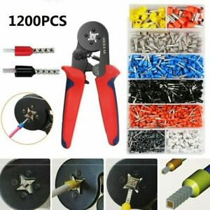 Crimping Tool Set Crimp Wire Plier Tools With 1200pcs Wire Ferrule Terminals Kit