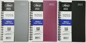 2022 Weekly monthly Planner Calendar Agenda Organizer 5 X 8 Select Color