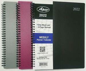 2022 Weekly monthly Planner Calendar Agenda Organizer 8 X 10 Select Color