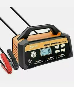 Ampeak 2 10 25a Smart Battery Charger Maintainer 12v Fully Automatic