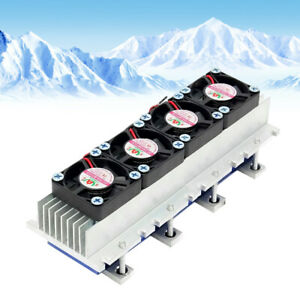 4chip Thermoelectric Peltier Cooler Refrigeration System Water Cooling Device