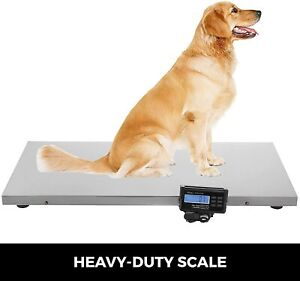 Large 660lbs Dog Digital Pet Scale For Shipping Veterinary Livestock Steel