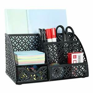 Easypag Office Desk Organizer 5 Compartments Desktop Accessories Caddy With