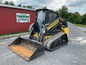2012 New Holland C238 Compact Track Skid Steer Loader W Cab 2spd Only 2200hrs