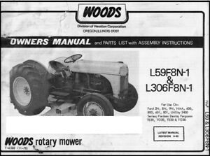 Woods Rotary Belly Mower L59f8n 1 L306f8n 1 Instruction Manual Ft19
