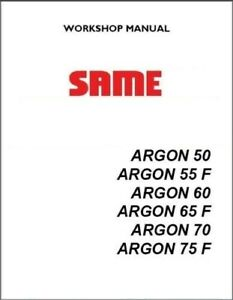 Same Tractor Argon 50 55 F 60 65 F 70 75 F Workshop Manual Cd 387 Pages