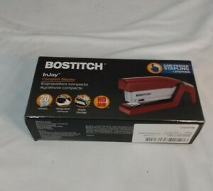 Bostitch Office Injoy Spring powered Compact Stapler Red