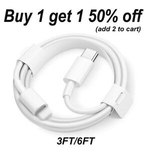 PD Fast Charger Cable 1m 2m Type USB C to iPhone For iPhone 13 12 11 Pro Max $6.49
