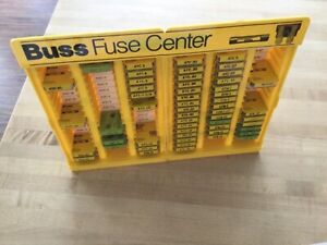 Yellow Plastic Display Case Buss Fuse Center With Many Fuses pre owned