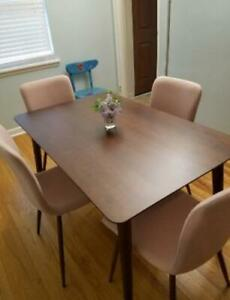 47 Mid Century Solid Wood Dining Table Or Kitchen Table Espresso