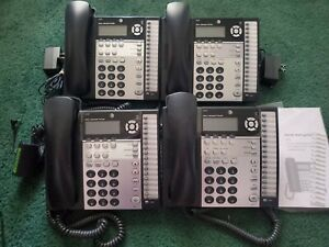 Lot Of 4 At t 4 line Small Business System Phones 1070 Corded Tested