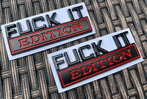 2pc F Ck It Edition Emblem Badges Sticker Decal For Chevy Car Truck Universal