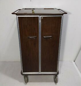 Vintage Modern Metals Rolling Medical Cart Cabinet Tool Box Chest Storage Wheels