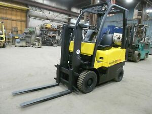 2006 Hyster H40fts 4 000 4000 Pneumatic Tired Forklift W Trucker Mast