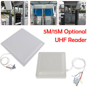 Uhf Long Range Rfid Reader Antenna 5 15m For Access Control Management Tracking