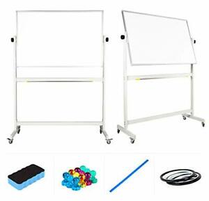 Rolling Whiteboard Dry Erase Board With Stand 48x32 Large 48 X 32 Inches
