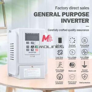 220vac Single phase Variable Frequency Drive Vfd For 3 phase 2 2kw Ac Motor Us