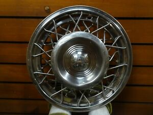 Rare Vintage 1953 55 Oldsmobile 15 Wire Hubcap Wheel Cover