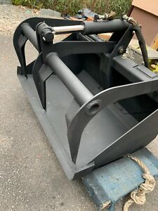 36 Inch Bobcat Skid Steer Bucket With Teeth Grapple Attachment