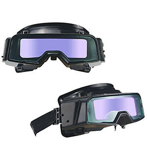 Auto Darkening Welding Glasses Head mounted Face Protection For Electric Welding