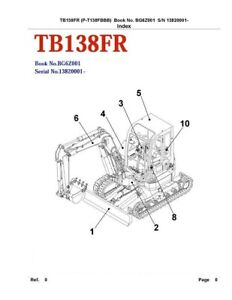 Tb138fr Compact Excavator Parts Manual sn 13820001