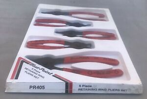 Nos Blue Point Model Pr405 Retaining Ring 5 Piece Pliers Set New In Package