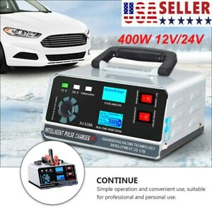 400w Heavy Duty Smart Car Battery Charger Automatic Pulse Repair Trickle For Car
