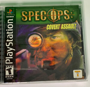 2001 Spec Ops: Cover Assault Sony Playstation PS1 COMPLETE VG FREE S H $17.00