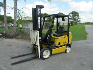 Yale Gco50r 5000 Lb Forklift Gas Engine Lift 152 6409 Hrs Solid Tires