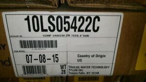 Goulds 1 10ls05422c 1 2hp 1 60 230v 2 Wire Submersible Pump nib Nos
