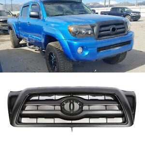 New Front Grille Black Shell For 05 11 Toyota Tacoma Plastic Fits 2007 Toyota Tacoma