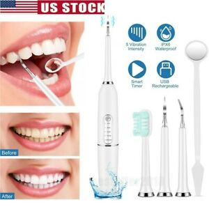 Rechargeable Electric Dental Scaler Tartar Calculus Plaque Tooth Stains Remover