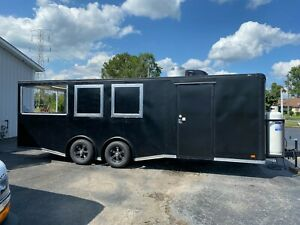 New 8 5 X 24 Enclosed Food Mobile Kitchen Concession Catering Porch Trailer