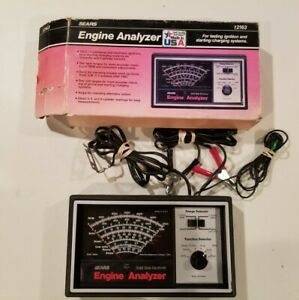 Vintage Sears Better Quality 12v Engine Analyzer W Cords Cables 2163 Box