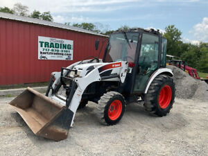 2010 Bobcat Ct450 4x4 Hydro 45hp Compact Tractor W Cab Loader