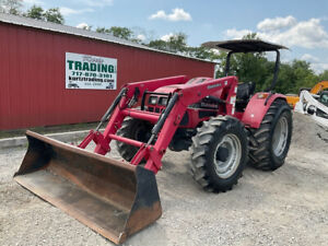 2012 Mahindra 8560 4x4 85hp Fam Tractor W Loader Only 1800hrs