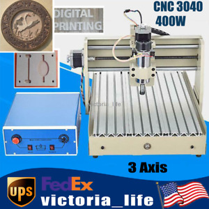 3axis Cnc 3040 Router Engraver Milling Machine Router Pcb Engraving Machine 400w