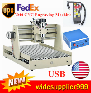3axis 3040t 400w Cnc Router Engraver Engraving Carving Machine W usb Handwheel