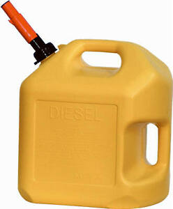 8610 Diesel Gas Can Yellow Polyethylene 5 gallons Quantity 1