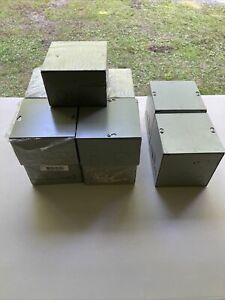 Lot Of 11 Milbank Mfg Co Type 1 Enclosure Box 6x6x4 And 6x6x6