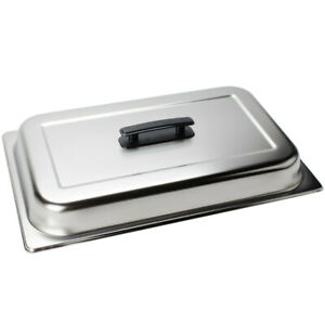 Choice Full Size Solid Dome Stainless Steel Steam Table Hotel Pan Cover Lid