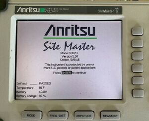 Anritsu S332d Color Site Master Cable And Antenna Analyzer W Option 3 6 16