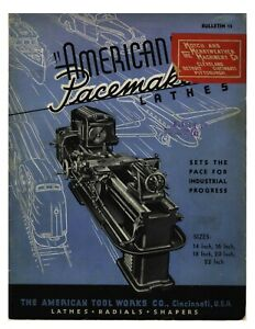 1940 American Tool Works Pacemaker Lathe Radials Shapers Brochure 15