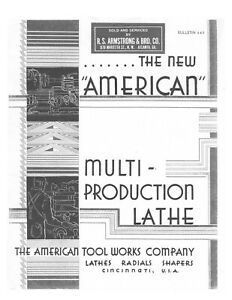 1945 American Tool Works Multi production Lathe Radials Shapers Brochure 445