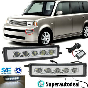 Fits 2003 2007 Scion Xb Led Drl Day Time Running Lights Fog Lights Replacement