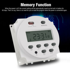 Lcd Digital Timer Switch Relay Programmable Power Electronic Dc 12v Cn101a Usa