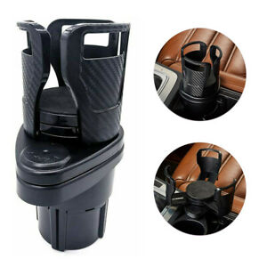 2 In 1 Car Cup Holder Extender Adapter Auto Drink Rack W 360 Rotating Organizer