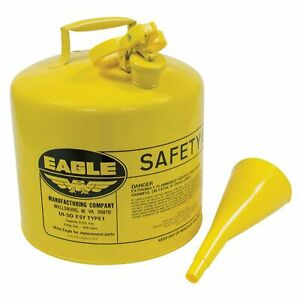New Metal Safety Diesel Can 765 200 For Eagle 5 Gallon With Funnel