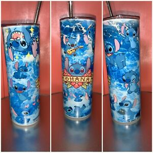 20 oz Stitch inspired tumbler for hot or cold beverages $30.00