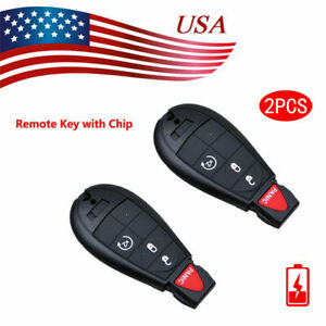 2x New Replacement Keyless Entry Remote Control Key Fob For Dodge Caravan Ram